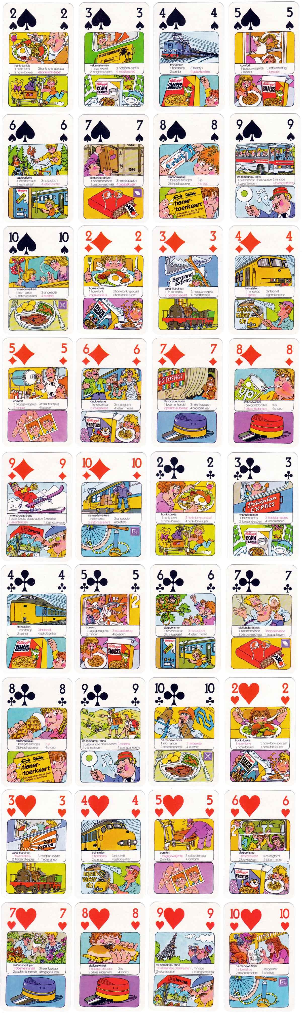 Stationskwartetspel (Railway Stations quartet game) published by Servex BV, Utrecht, 1975