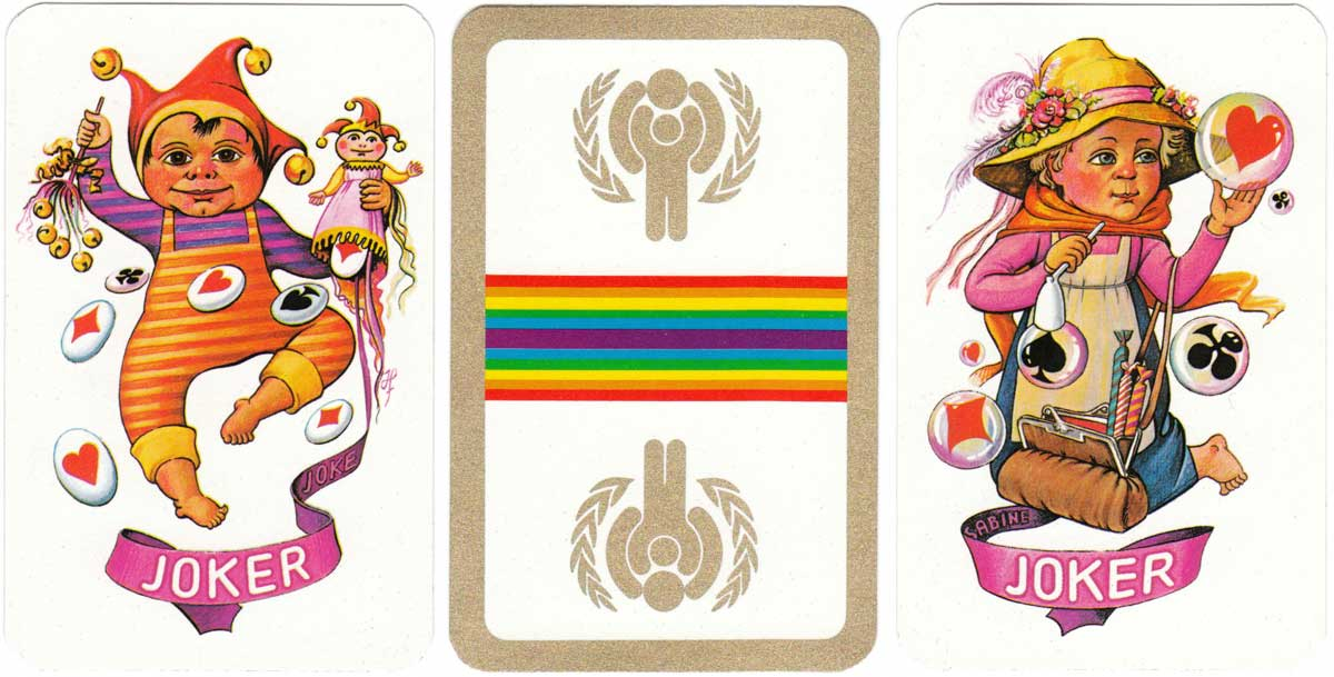 Year of the Child commemorative deck designed by Jhan Paulussen, 1979