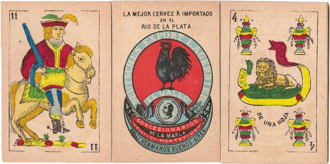 Advertising pack for Cerveza 'El Gallo' made in Belgium, c.1880