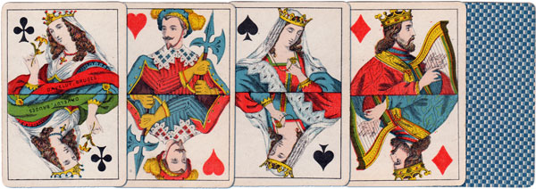 Dutch pattern playing cards by Daveluy, Bruges, c.1880