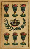 6 of cups with royal crown