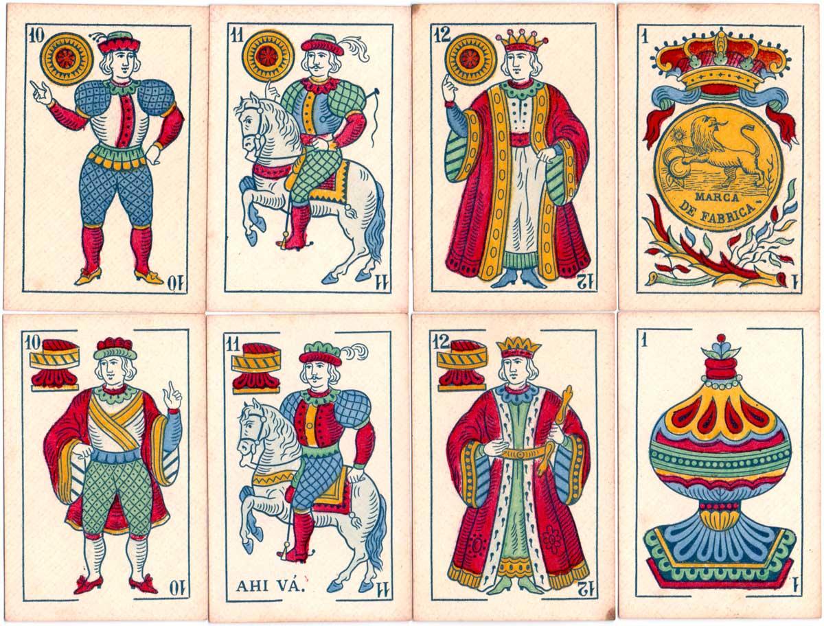 Fabrica de Naipes Finos 'El Leon', c.1898