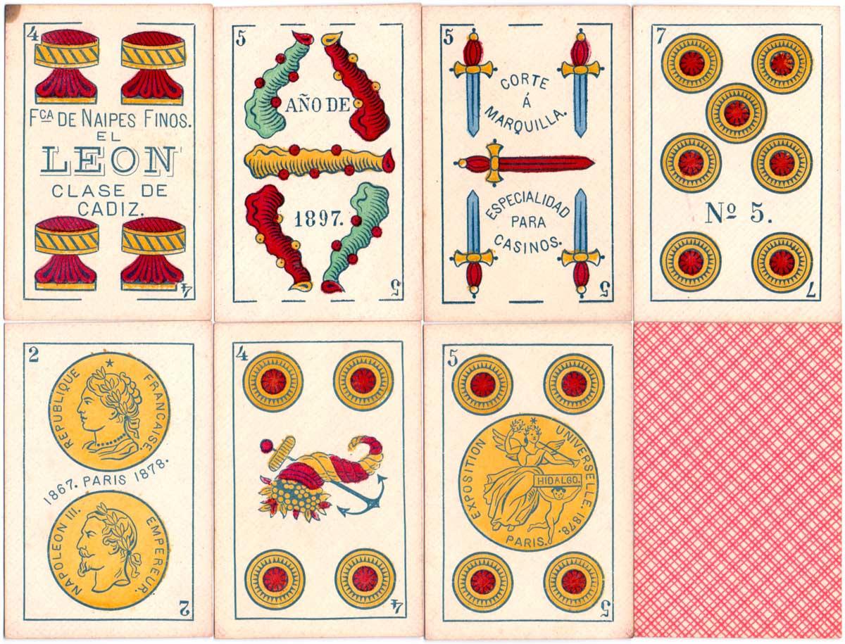 Fabrica de Naipes Finos El Leon, c.1898