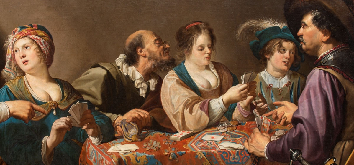 Card Players by Theodoor Rombouts