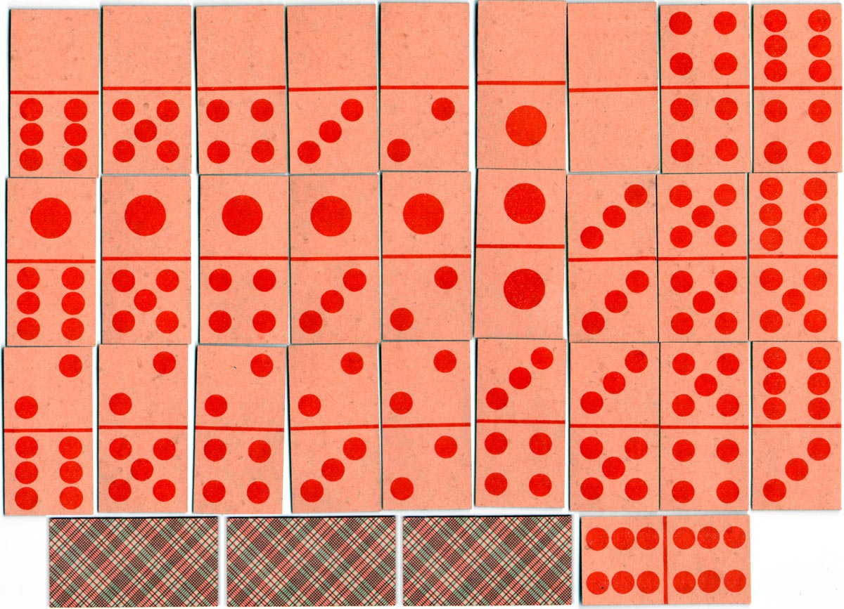 Domino Cards by Mesmaekers Frères, c.1890