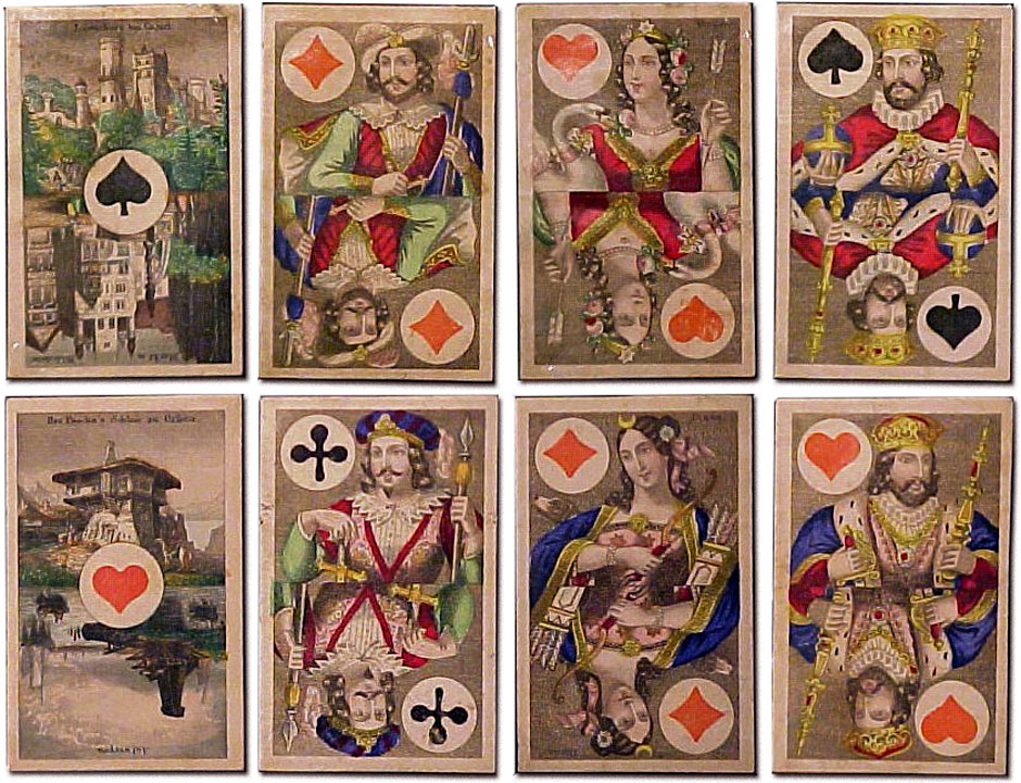 cards produced by Mesmaekers & Moentack during their partnership era, c1860