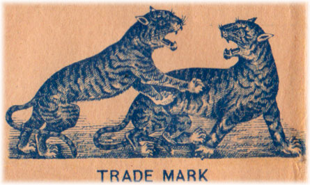 The two tigers trademark first registered in September 1887