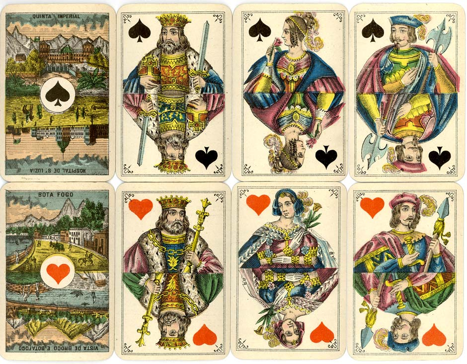 Bongoût pattern playing cards with special scenic Aces for Brazil