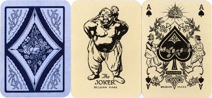 'Dilkhus' playing cards manufactured by A. Van Genechten, Belgium, 1922