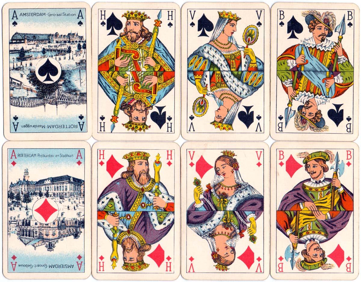Dutch pattern advertising deck for Genever Giraf made by Van Genechten in the 1950s