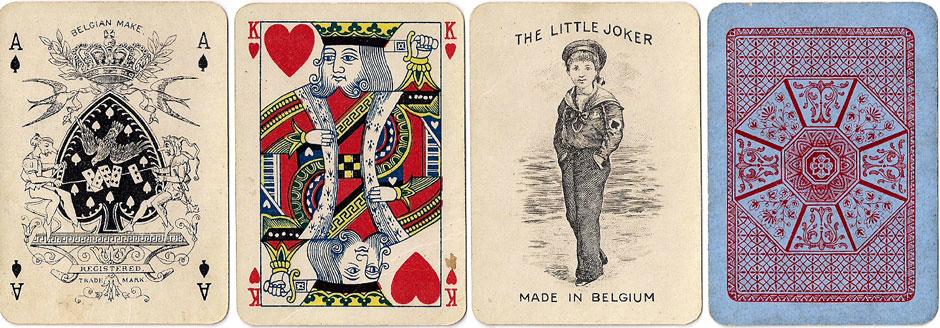 'Sport No.31' playing cards manufactured by A. van Genechten, Turnhout, Belgium,  c.1910
