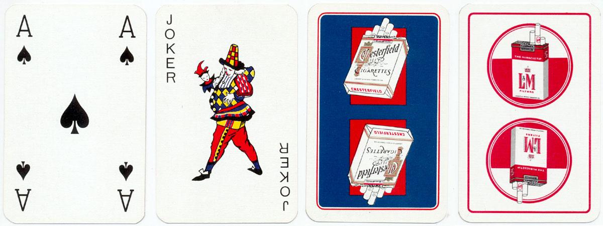 two different tobacco advertising decks made in Belgium by A. van Genechten, 1960s