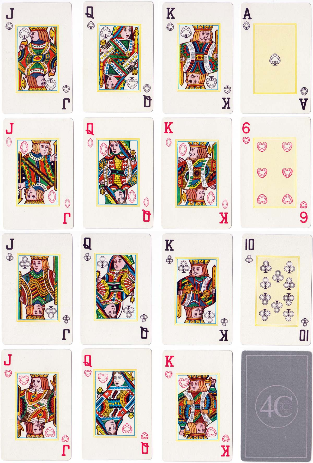 4C Gemstone playing cards for De Beers, 1988