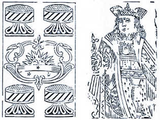 woodcut cards by the Real Fábrica de Cartas de Jogar c.1811-1818