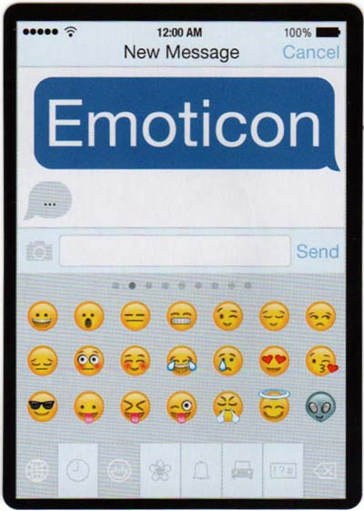 Emoticon playing cards designed by Buy Design Studios, 2016
