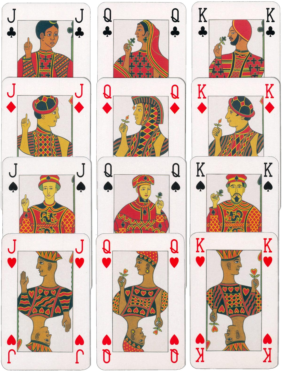 """Fair Play"" cross cultural playing cards illustrated by Canadian artist Stephen B. MacInnes"
