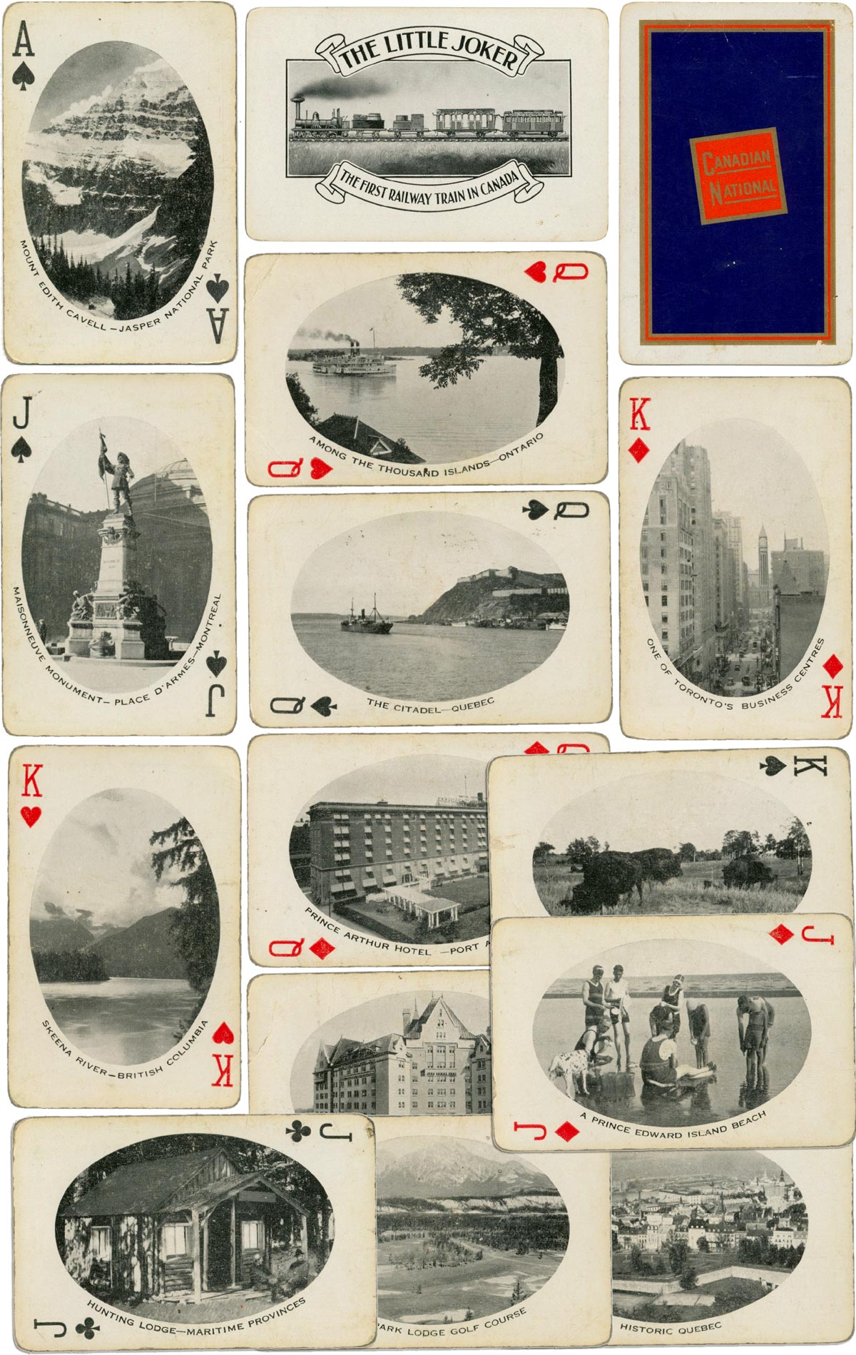 Canadian National Railways souvenir deck, dated to 1927
