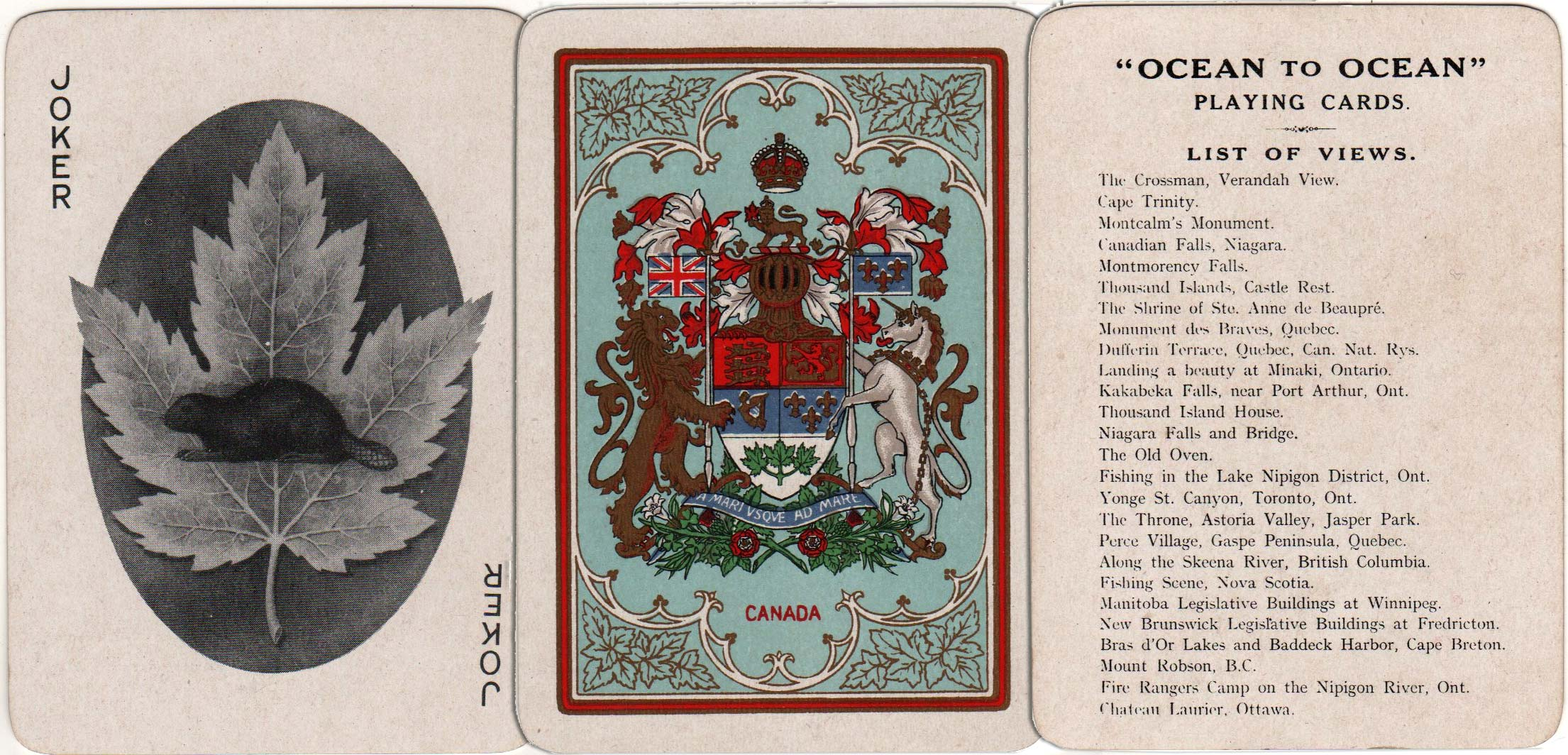 Ocean to Ocean Souvenir of Canada by Chas Goodall & Son Ltd, c.1905