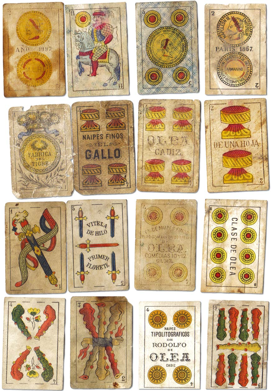 Playing cards recovered from saltpetre workers from Northern Chile, 1850-1940