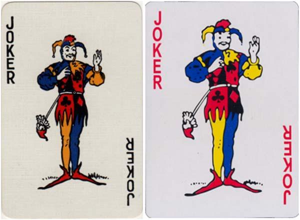 Waddingtons original joker and Chinese copy