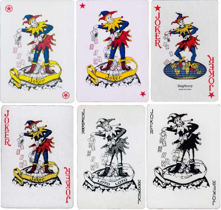 Carta Mundi joker and various copies