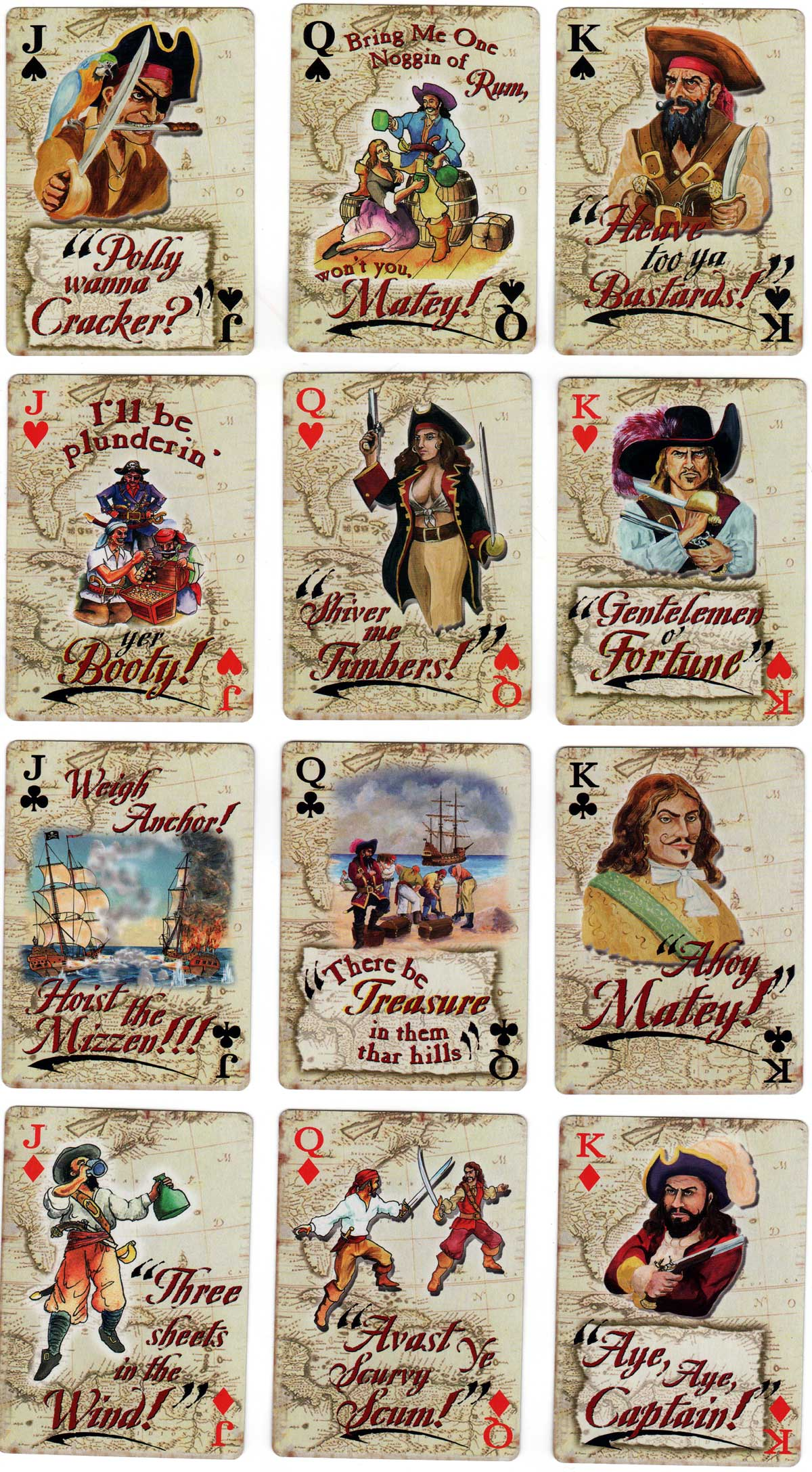 Playing Cards of Famous Pirates, 2012