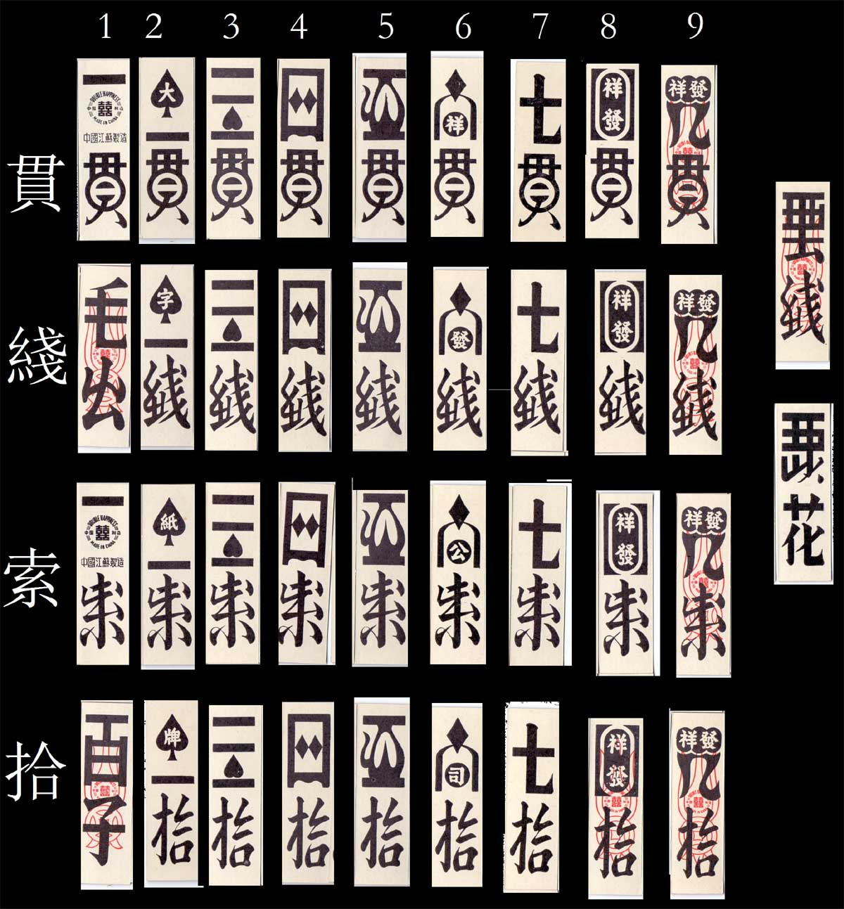"""Double Happiness"" brand Hakka [客家] playing cards used by Hakka ethnic communities"