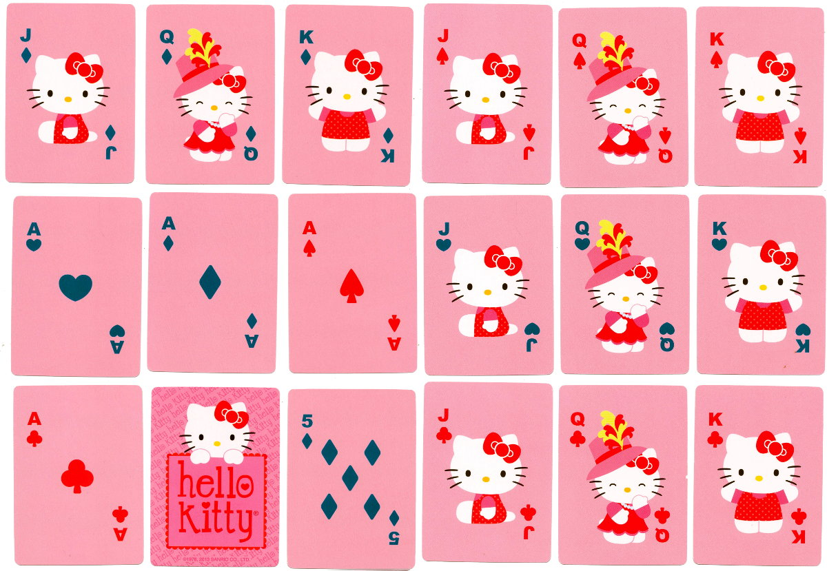 """""""Hello Kitty"""" playing cards published by Sanrio, manufactured in China, 2013"""