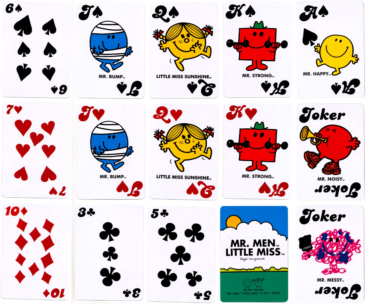 Mr. Men™ and Little Miss™ playing cards published by Marks & Spencer, 2011