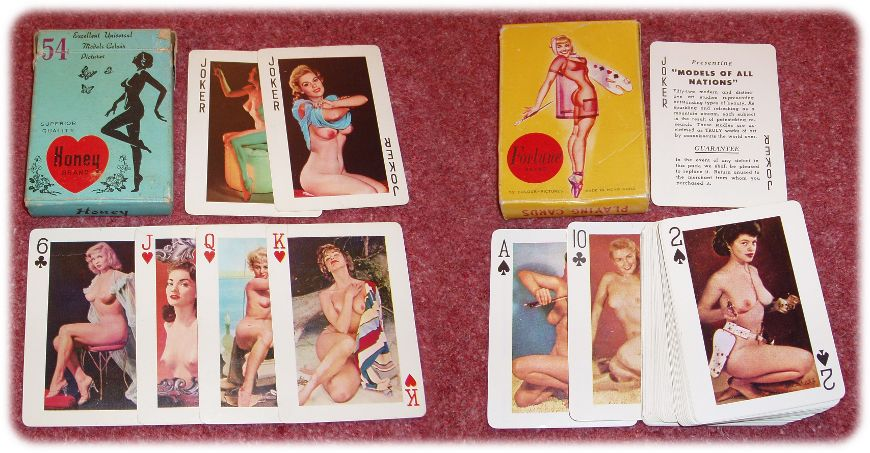 Chinese pin-up playing cards