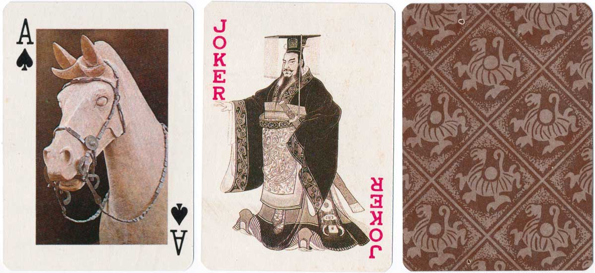 Post Playing Cards featuring photos of the terracotta army