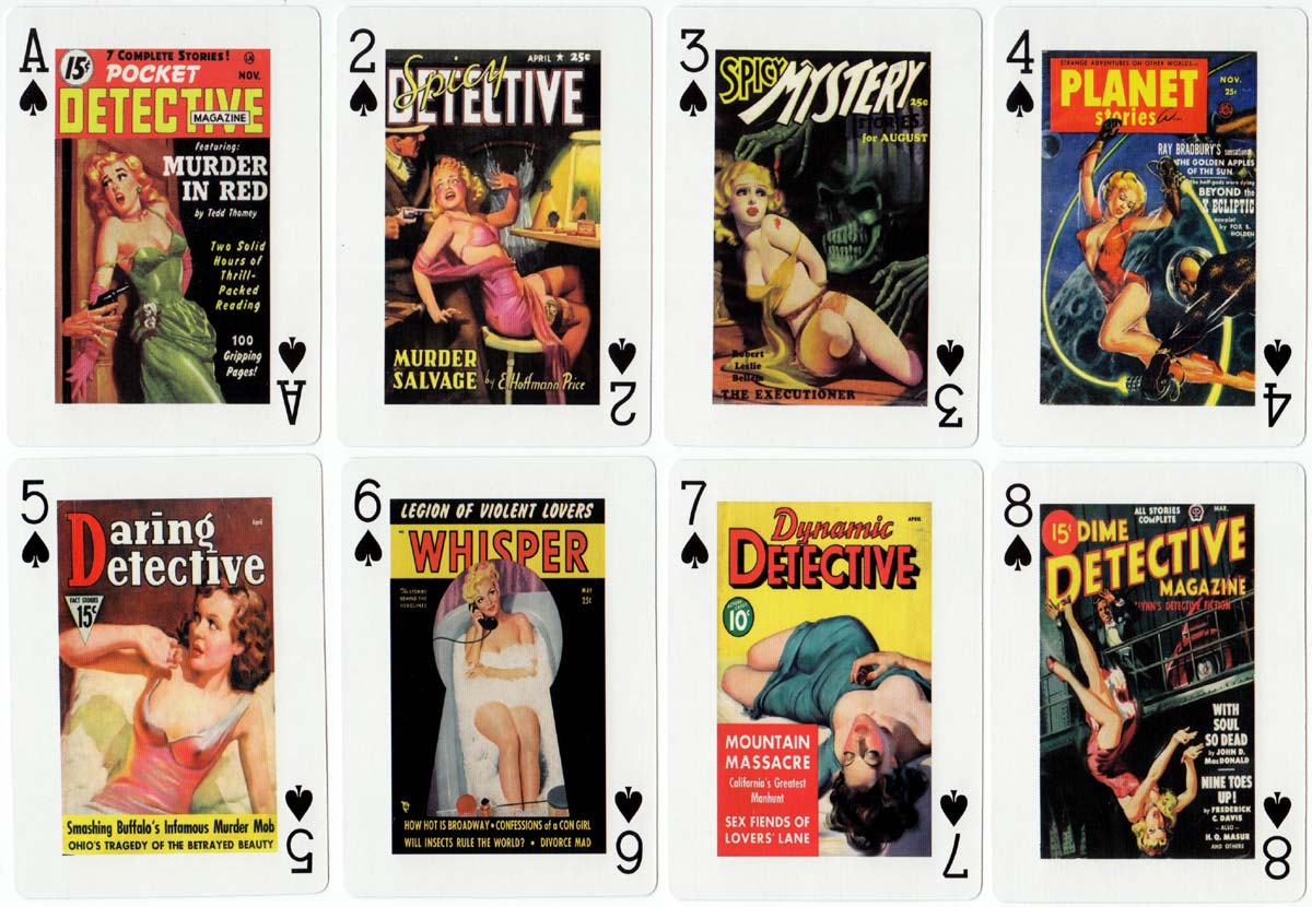 Classic Pulp Pin-Up playing cards from China, c.2010