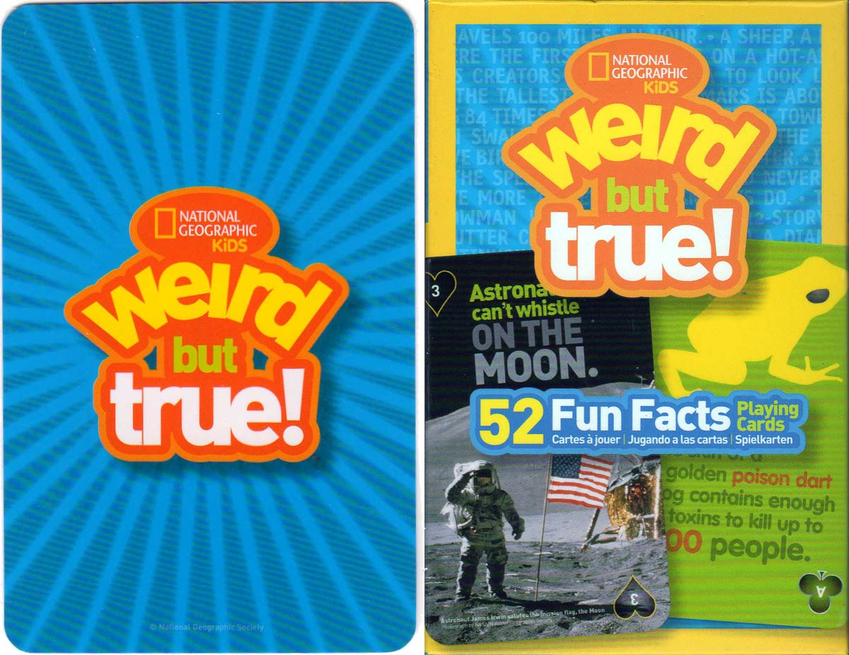"""National Geographic: """"Weird But True"""" kids fun fact playing cards, 2014"""