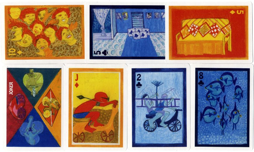 Patia Te Pere - The Big Deal Cook Islands Souvenir Playing Cards by Joan Gragg