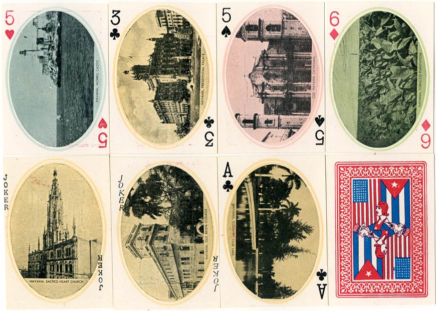 Souvenir of Cuba playing cards pulished by Romo & Kredi, c.1930