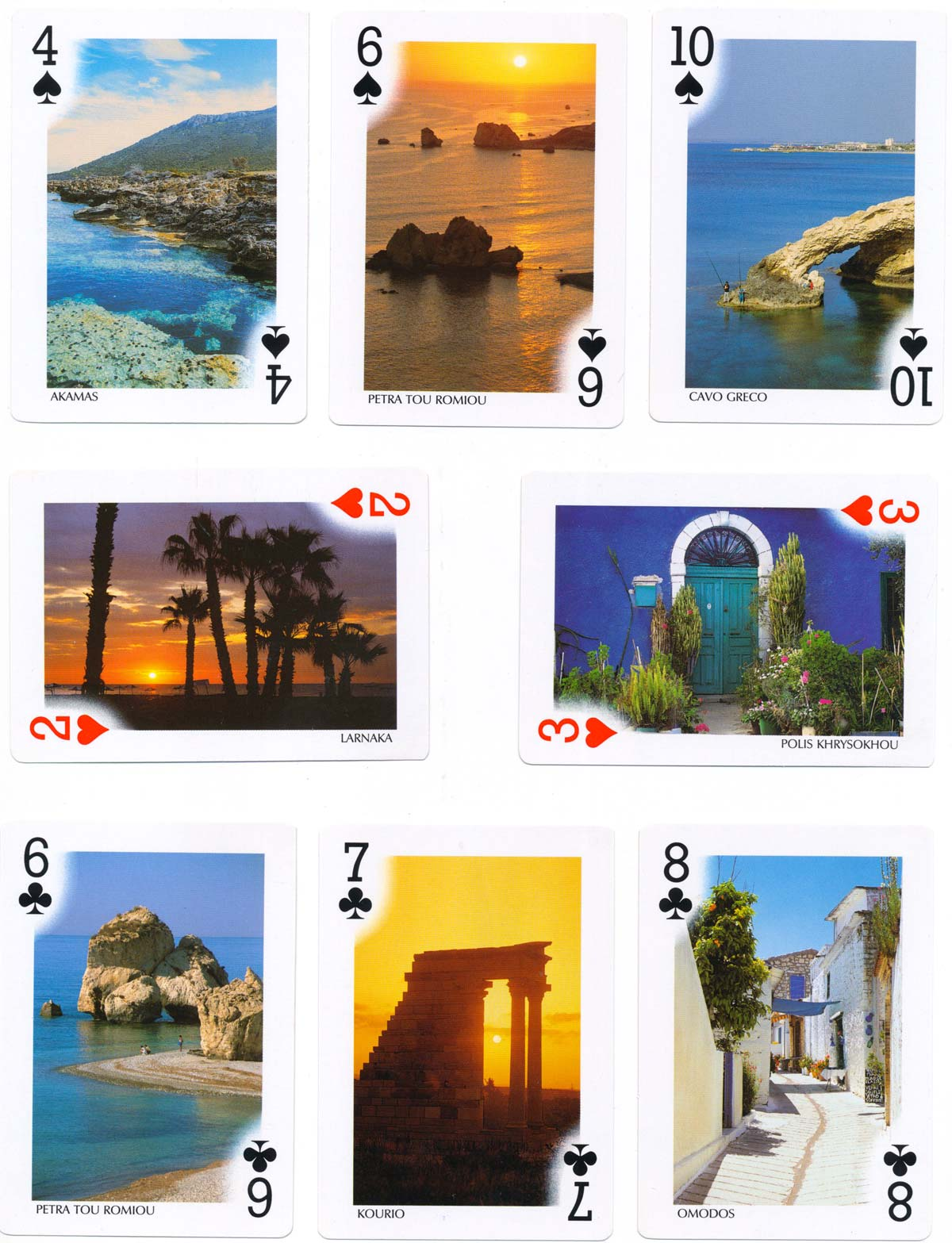 Cyprus Souvenir playing cards published by Editions Michalis Toubis S.A., 1998
