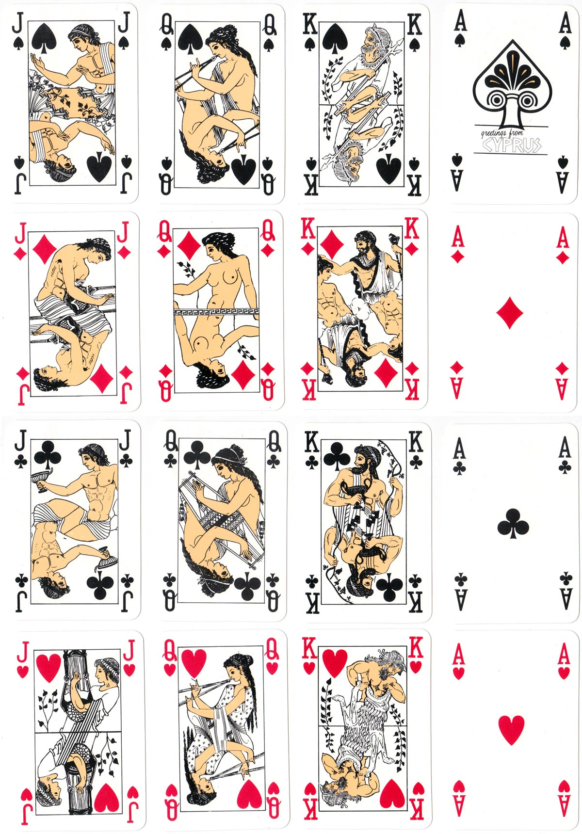 Cyprus souvenir playing cards