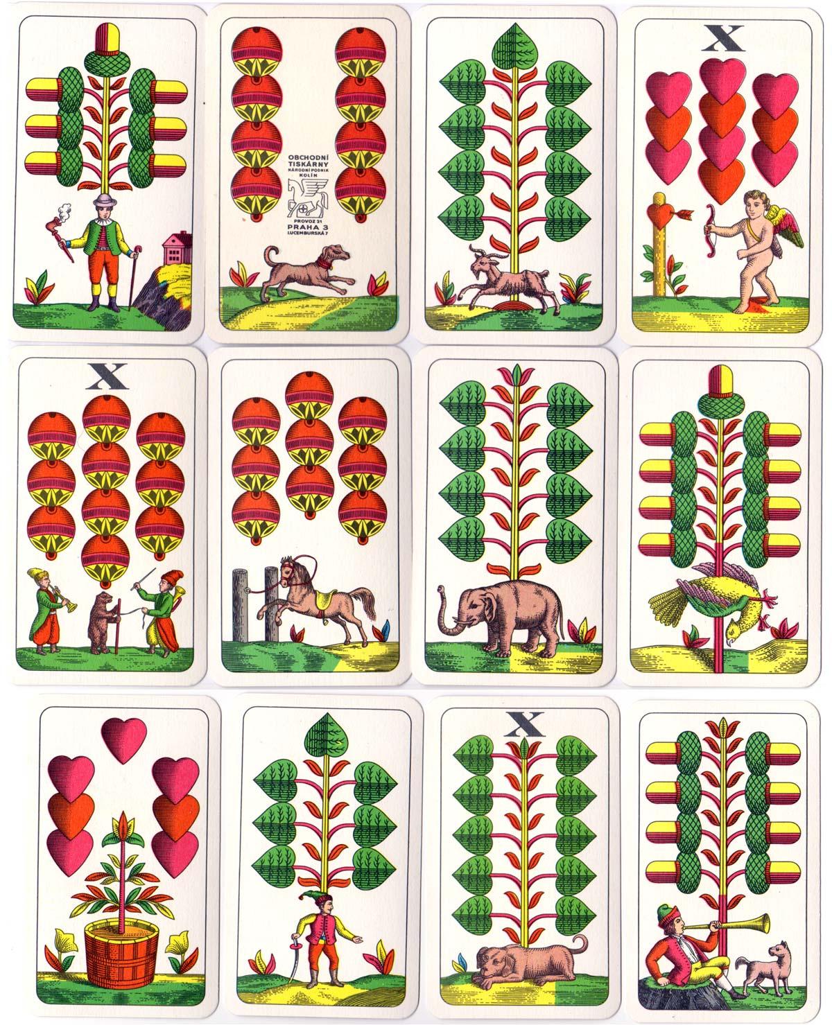 Bohemian or Prager pattern, Obchodní Tiskárny, Czechoslovakia,  c.1970