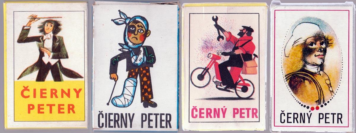 Čierny Peter card games manufactured by Obchodní Tiskárny