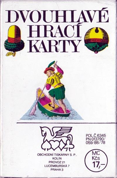 """""""Dvouhlavé Hrací Karty"""" (Czech Seasons playing cards) made by Obchodní Tiskárny, c.1980"""