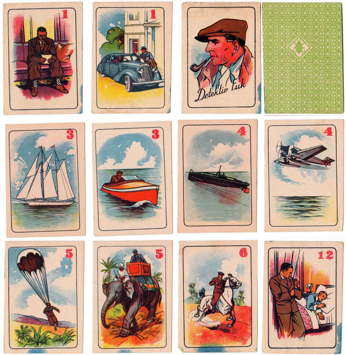 'Detektiv Fuk' card game from Czechoslovakia