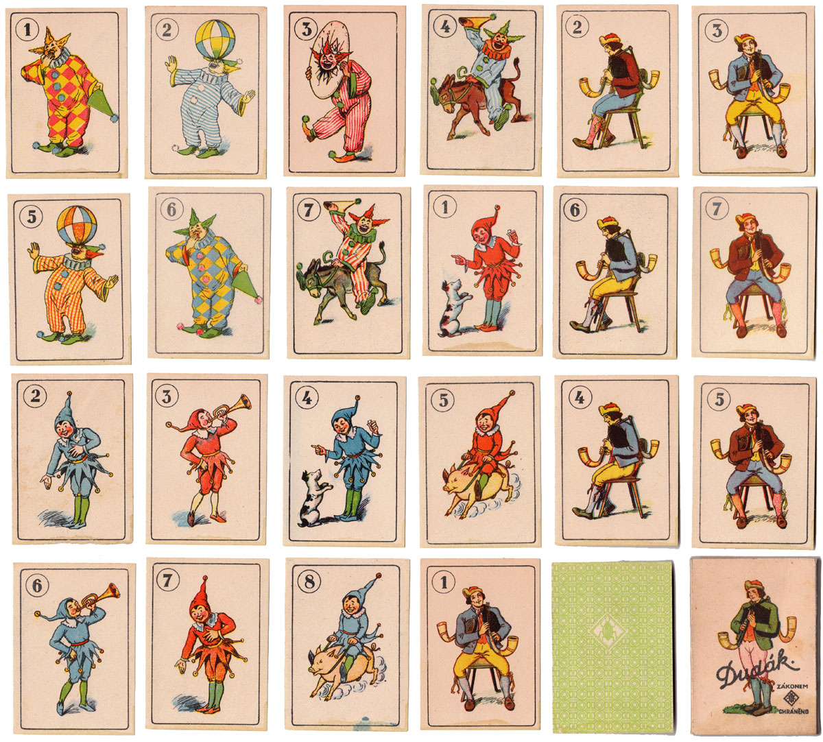 Dudák card game made in Czechoslovakia