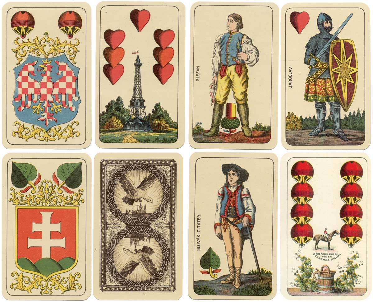 Czech Hussite Deck, printed in Prague by Ferd. Piatnik & Synové S.A., c.1927