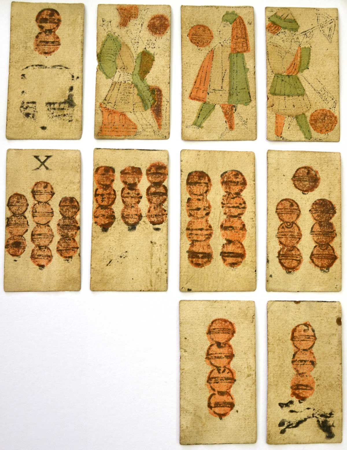Bohemian playing cards of the German type manufactured by Georg Kapfler and dated 1611