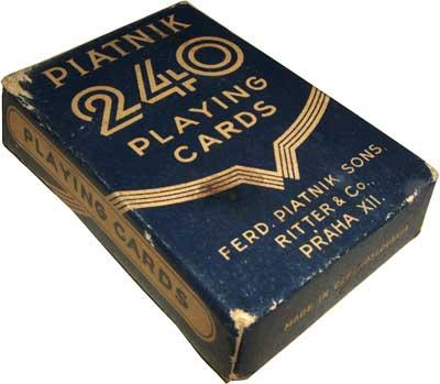 Piatnik-Ritter No.240 playing cards, pre-1946