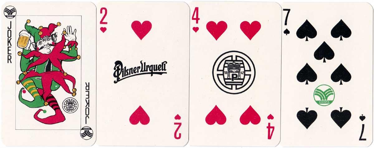 Pilsner Urquell publicity deck from Czech Republic, c.1998