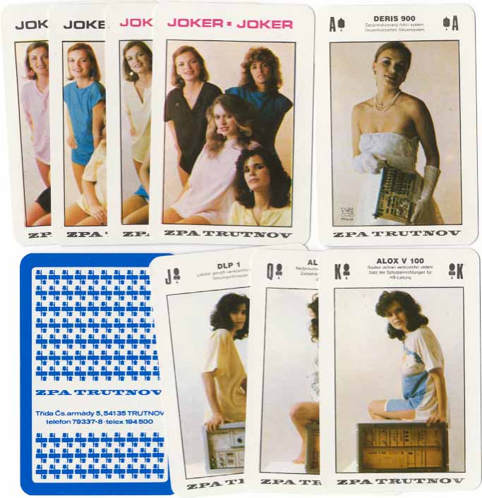 Special pack manufactured by Obchodní Tiskárny with advertising for ZPA Trutnov electronics, 1988