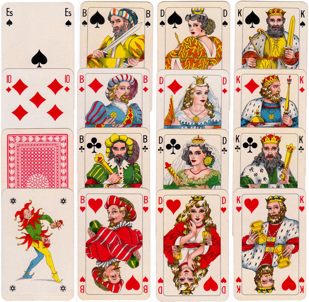 Warburg's Danske playing cards published by Aktieselskabet Emil Jensen, København, 1944