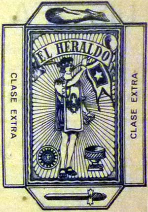 image of wrapper from El Heraldo advert, 1930s