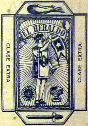 image of wrapper from El Heraldo advert, 1930s